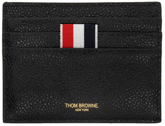 Thom Browne Black Note Compartment Card Holder