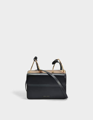 Mia Bag in Black and Light Pink Calfskin