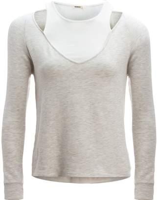 Monrow Double Layer Long-Sleeve V-Neck - Women's