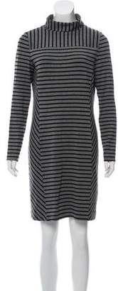 Tory Burch Stripped Long Sleeve Dress