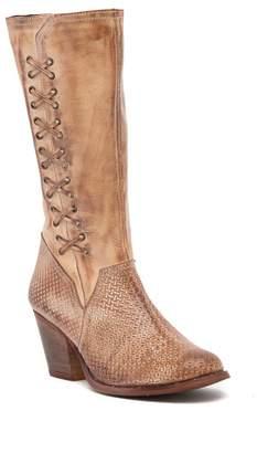 ROAN Kaya Block Heel Tall Leather Boot