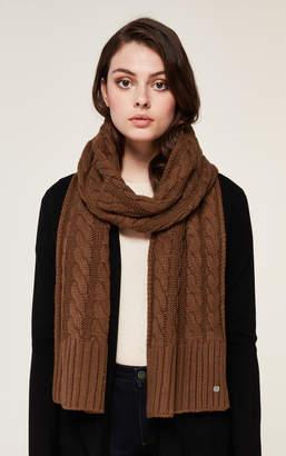 Soia & Kyo MIRI cable knit scarf