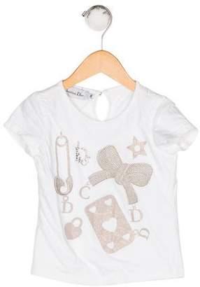 Christian Dior Girls' Embellished T-Shirt