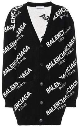 Balenciaga Wool and camel-blend cardigan