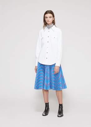 Calvin Klein Pointed Collar Denim Shirt