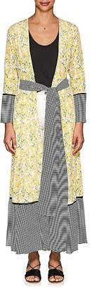 Leone WE ARE Women's Floral Silk Belted Maxi Cardigan