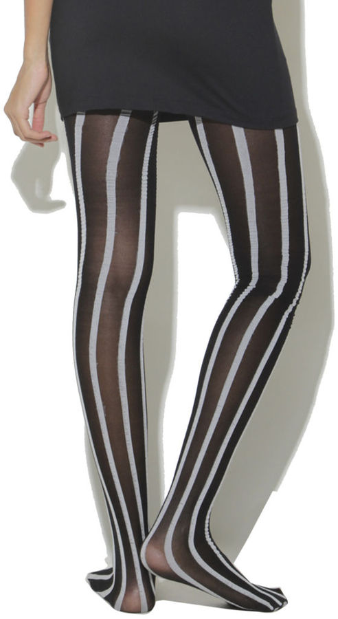 Wet Seal Stripe Opaque Tights