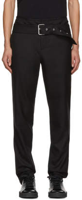 Helmut Lang Black Double Waistband Trousers