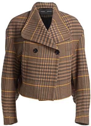 Proenza Schouler Plaid Virgin Wool & Linen Jacket