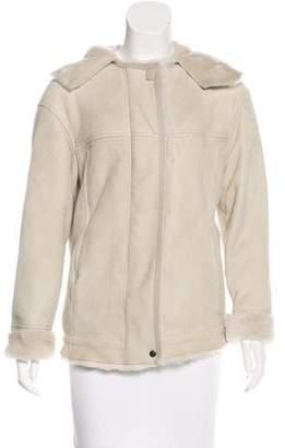 Isabel Marant Shearling Hooded Jacket