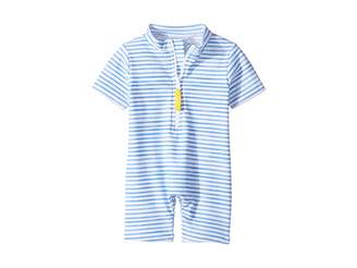 Toobydoo Blue Watercolor Sunsuit (Infant/Toddler)