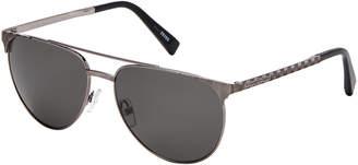 Ermenegildo Zegna EZ0040 Gunmetal-Tone Flat Top Sunglasses
