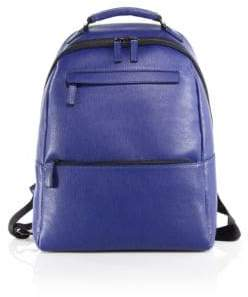 Saks Fifth Avenue COLLECTION Oblique-Zip Leather Backpack