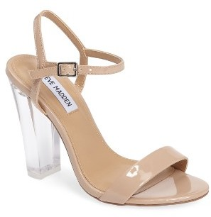 Women's Steve Madden Vallery Clear Heeled Sandal $99.95 thestylecure.com