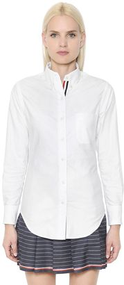Striped Placket Cotton Oxford Shirt $410 thestylecure.com