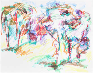"""Serena & Lily """"Bold Abstracted Trees"""" by Jack Freeman"""