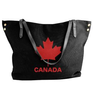 Cotyou-6 Women's Canvas Large Tote Shoulder Handbag Canadian Flag Canada Maple Leaf Hobo Bag