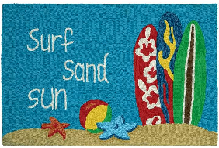 Couristan Couristan Covington Accents ''Surf, Sand, Sun'' Indoor Outdoor Rug - 2' x 3'