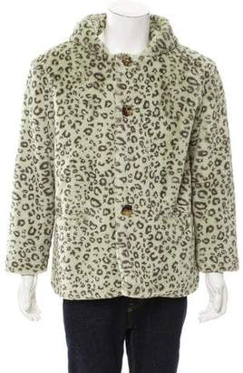 Gosha Rubchinskiy 2014 Hooded Animal Print Jacket