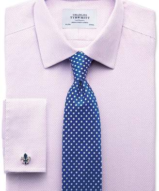 Charles Tyrwhitt Extra slim fit non-iron imperial weave lilac shirt