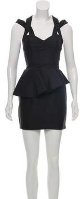 Rachel Gilbert Caged Silk Mini Dress