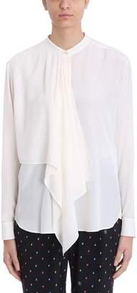 Stella McCartney Mao Collar Ivory Silk Blouse