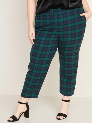 Old Navy Mid-Rise Secret-Slim Pockets Plus-Size Pull-On Plaid Pants