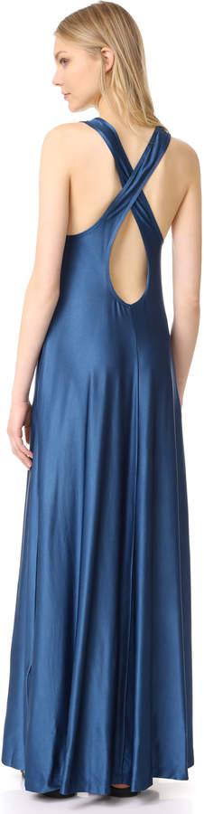 DKNY Sleeveless Maxi Dress with Pocket