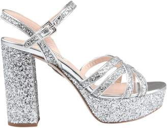 efcd0911c3a Miu Miu Miumiu Glittered Platform Sandals