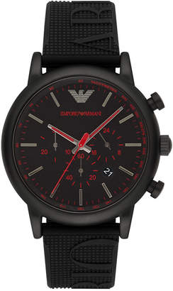 Emporio Armani Men's Chronograph Black Silicone Strap Watch 46mm AR11024