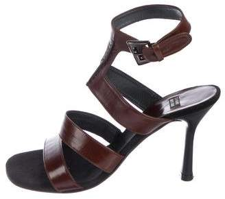 Stuart Weitzman Leather Strap Sandals