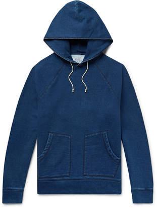 J.Crew Wallace & Barnes Fleece-Back Cotton-Blend Jersey Hoodie - Men - Blue