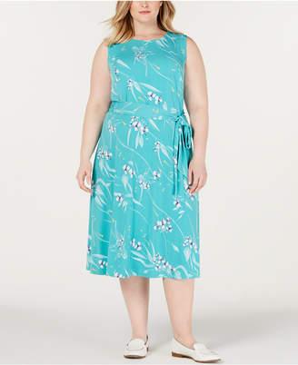 Charter Club Plus Size Floral-Print Midi Dress
