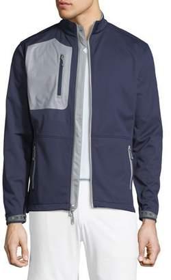 Peter Millar Men's Two-Tone Knit Soft Shell Jacket