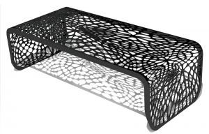 Arktura Coral Coffee Table - Black