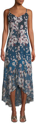 Nanette Lepore Nanette Floral-Print High-Low Maxi Dress