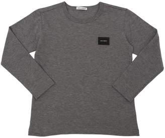 Dolce & Gabbana Logo Detail Jersey Long Sleeve T-Shirt