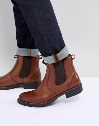 At Asos Eastland Leather Chelsea Boots In Tan
