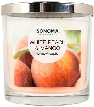 Sonoma Goods For Life SONOMA Goods for Life White Peach & Mango 14-oz. Candle Jar