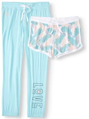 Secret Treasures Women's and Women's Plus Jogger and Short Sleep Set