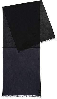 df0ea27bcdba HUGO BOSS Melange scarf in mixed weaves