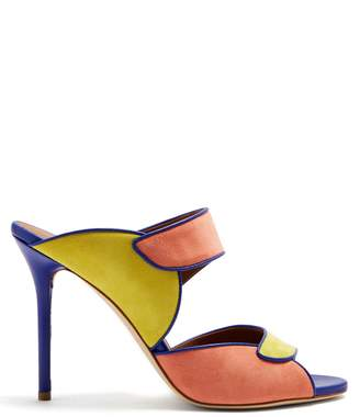 Malone Souliers BY ROY LUWOLT Olivia suede stiletto sandals
