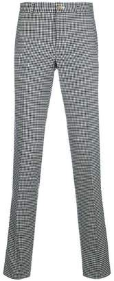 Comme des Garcons gingham straight-leg trousers