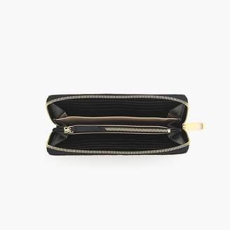 J.Crew Harper continental wallet in Italian calf hair