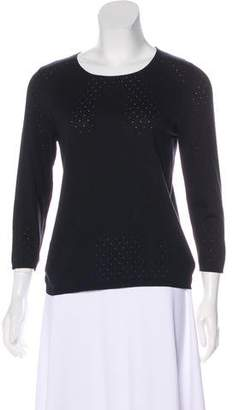 Akris Perforated Silk Sweater