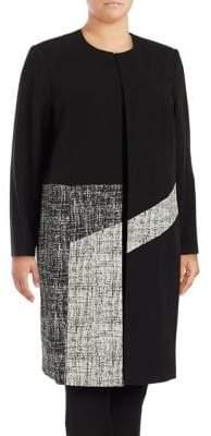 Calvin Klein Plus Colorblock Long-Sleeve Topper