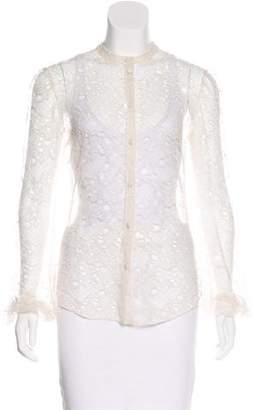 Alexander McQueen Lace Button-Up Top