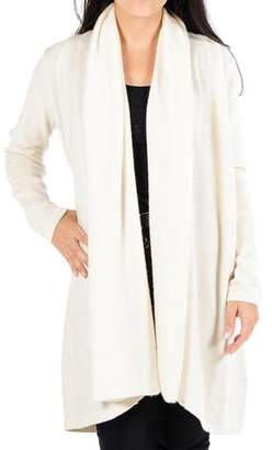 Black Cream Longline Cashmere Cardigan