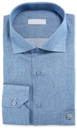 Stefano Ricci Men's Denim Dress Shirt