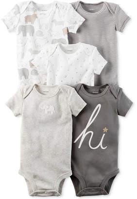 Carter's 5-Pk. Elephant Cotton Bodysuits, Baby Boys & Girls (0-24 months) $15.98 thestylecure.com